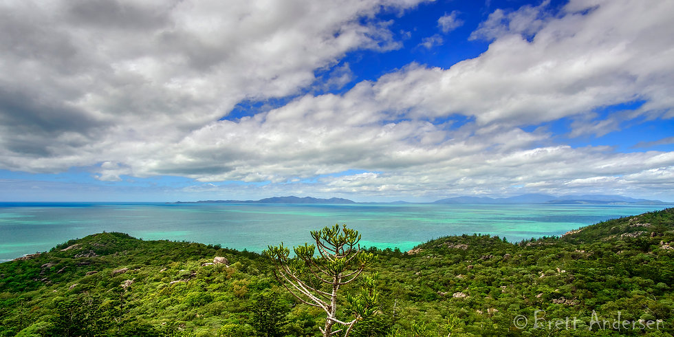 View from Magnetic Island, looking towards Townsville, Qld, Australia.