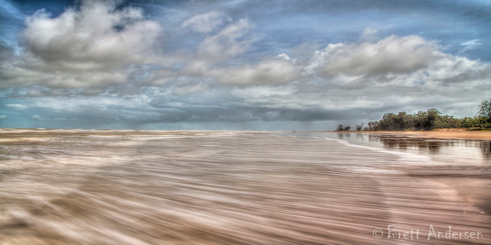 Ocean in motion at Casuarina Beach, Darwin. NT