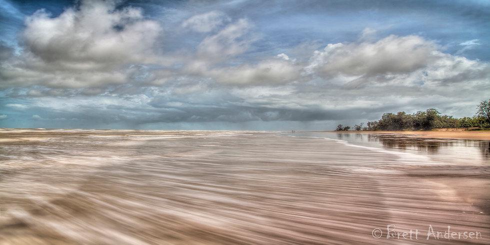 Ocean in motion at Casuarina Beach, Darwin. NT