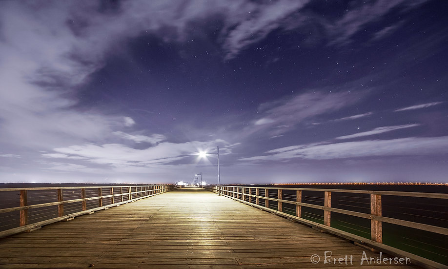 Woody Point Jetty, Redcliffe, Queensland, Australia.