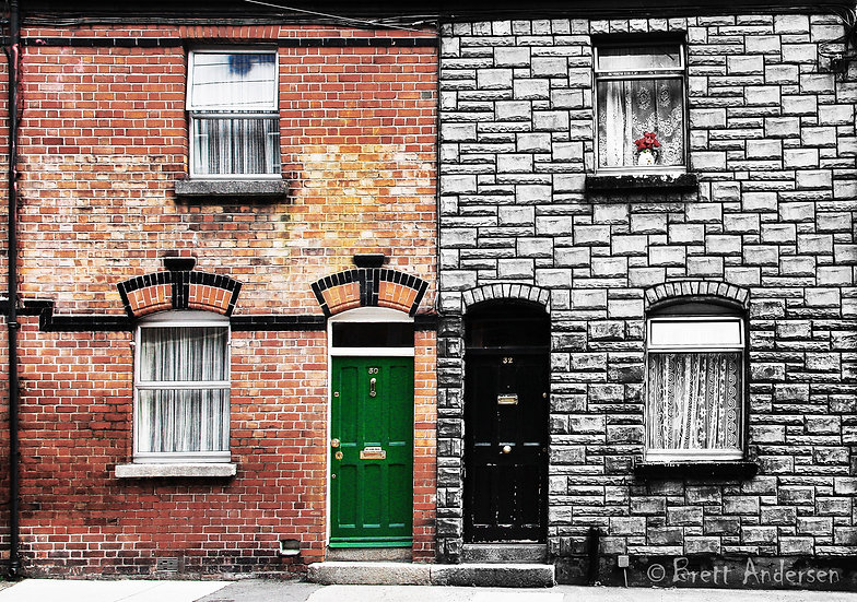 Doors in Dublin, Ireland.