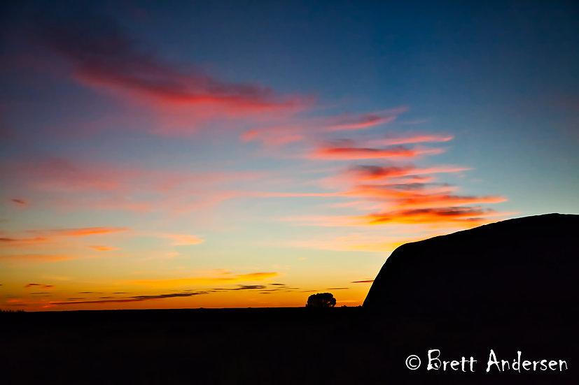 Sunrise at Uluru (Ayers Rock), Northern Territory, Australia.