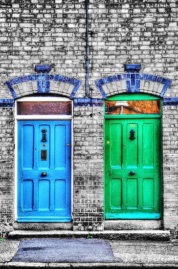 Doors in Dublin, Ireland.