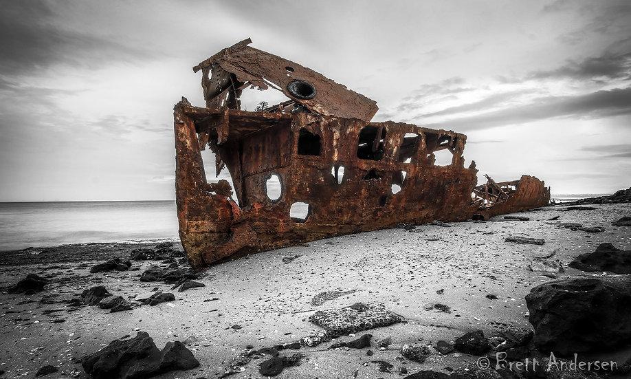The wreck of HMQS Gayundah, Woody Point, Qld, Australia.