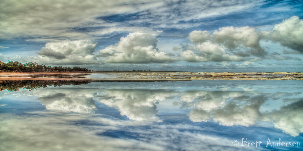 Reflections at Casuarina Beach, Darwin. NT