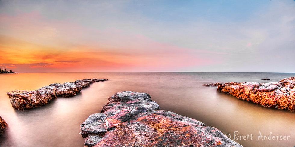 "Sunset at ""The Fingers"" near Nightcliff, Darwin. NT"