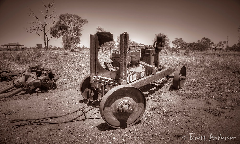 Rustic Old Machinery at Wauchope, Near Tennant Creek, NT, Australia.