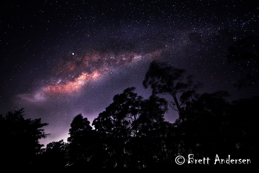 Milky Way at Armstrong Creek, Queensland, Australia.