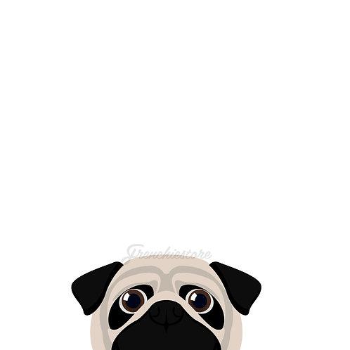 Pug Dog Sticker | Frenchiestore |  Fawn Pug Car Decal