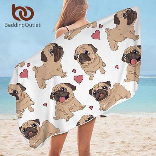 Pug Bath / Beach Towel