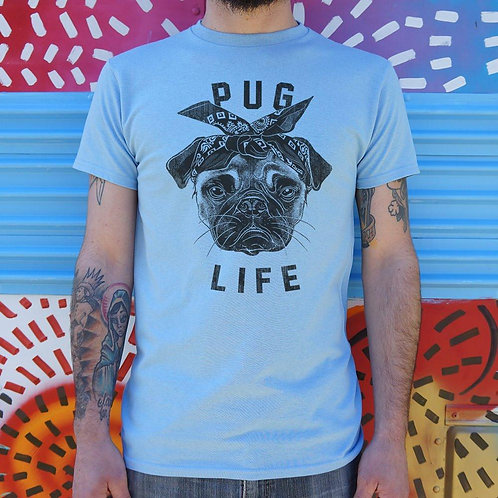 Pug Life Dog T-Shirt (Mens)