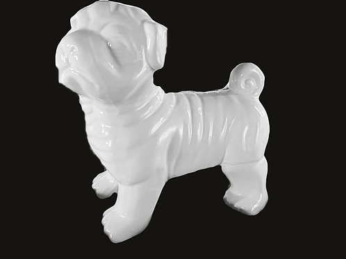 Beautiful ceramic Pug Statue