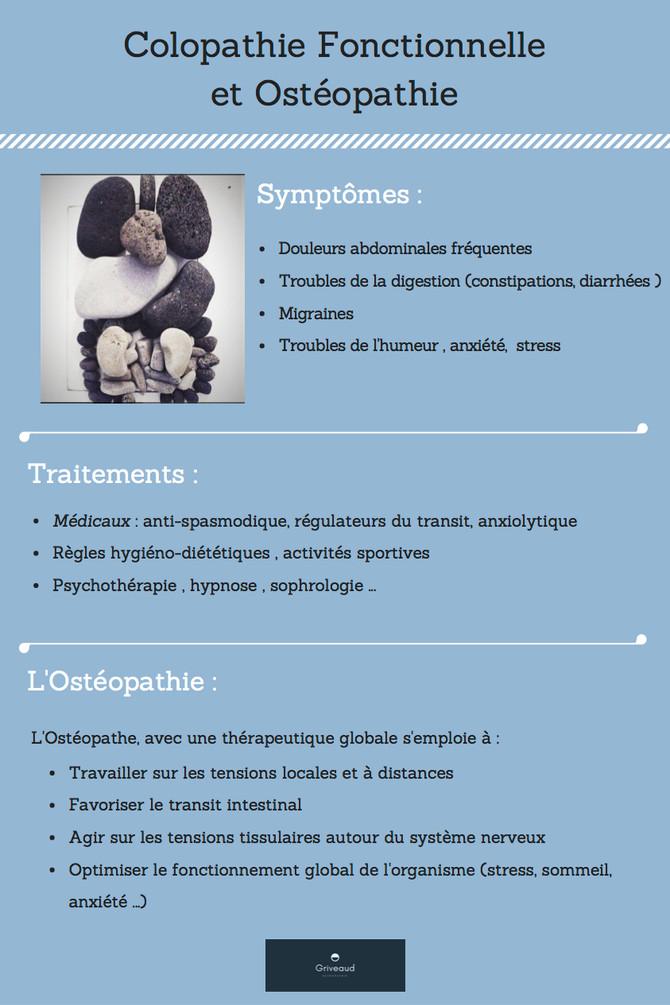 Colopathie Fonctionnelle et Ostéopathie.