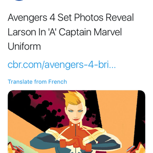 CAPTAIN MARVEL COSTUME REVEALED