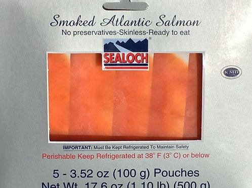 (100g) x 5ct. Smoked Atlantic Salmon Multi Pack 3.53 oz