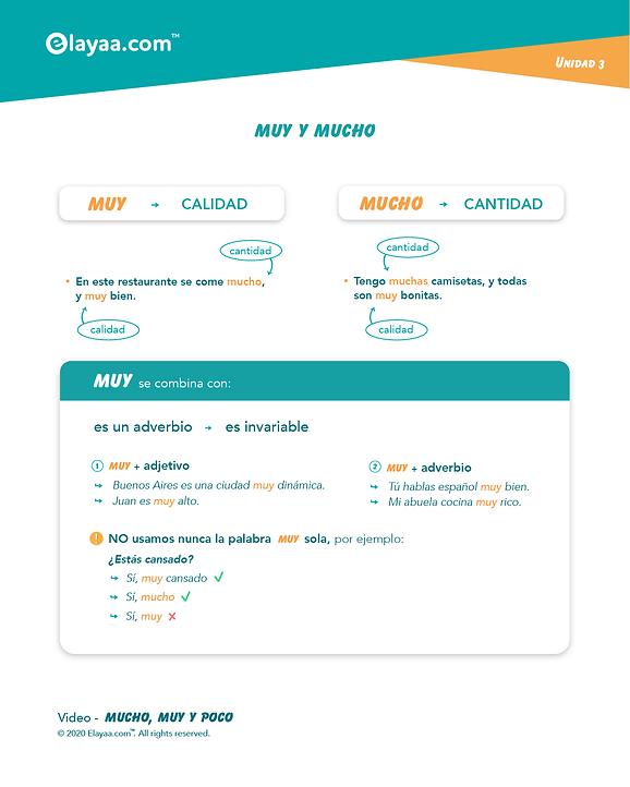 Elayaa.com - MUY e MUCHO in Spagnolo