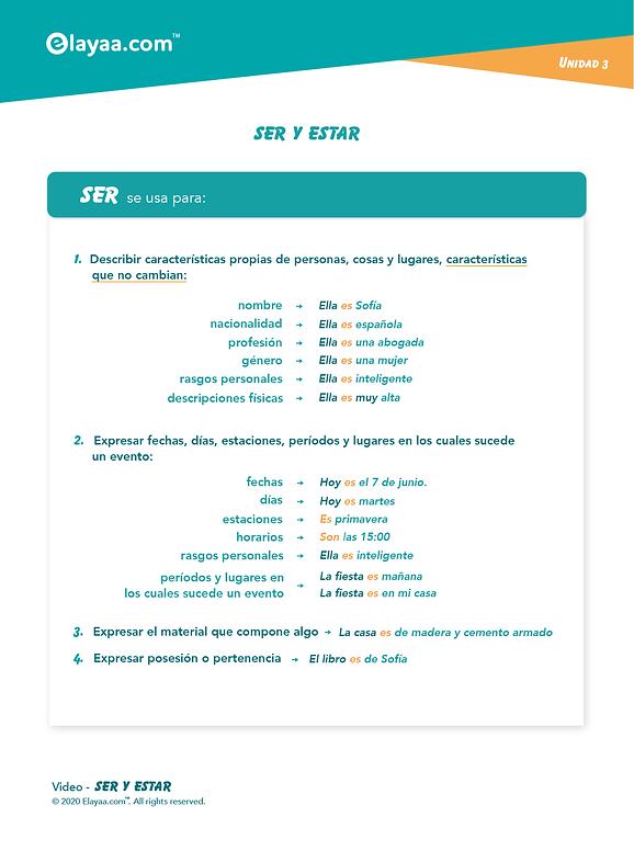 Elayaa.com - Ser o Estar in Spagnolo 1