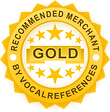 Recommended Merchant by Vocal References Badge