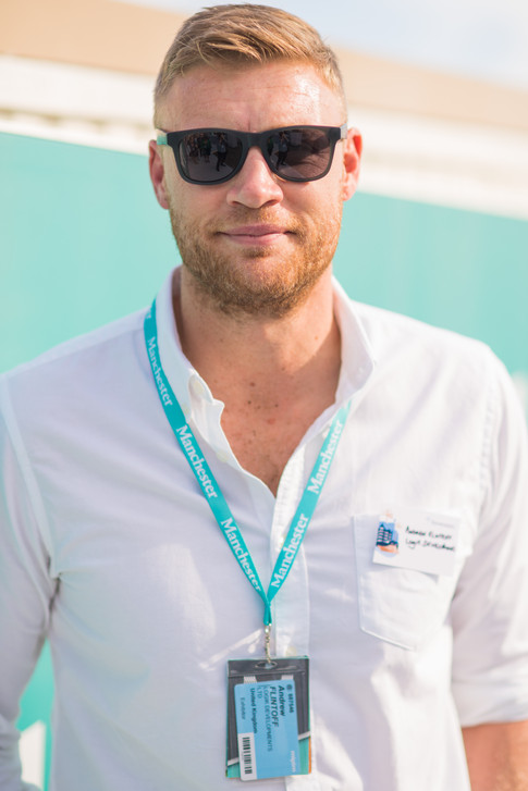 Andrew Flintoff at MIPIM CANNES