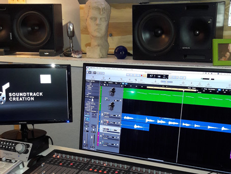 """Recording of my new song """"Our Star in the Sky"""" in Sefi's Carmel Studio"""