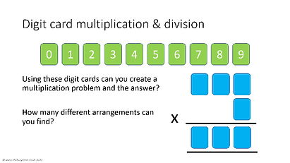 Digit card multiplication and division.p