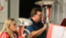 Stephan Høj spiller B tuba på Sønderborg friv. Brandværnsorkesters hold for nybegyndere og let øvede. På billedet spiller Stephan sammen med datteren Signe.
