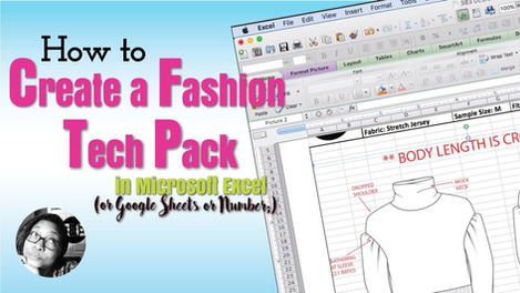 how to create a fashion tech pack in Excel