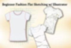 Fashion flat sketch of a tee shirt