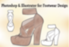Shoe sketches drawn with Adobe Photoshop and Illustrator