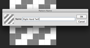 Save Weave Texture with Define Pattern