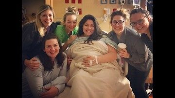 She worked six straight days in the NICU during Harvey, then she went into labor