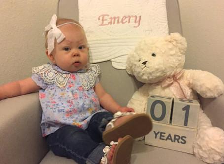 Happy first birthday, Emery!