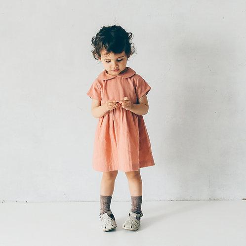 ダブルガーゼ衿つきワンピース