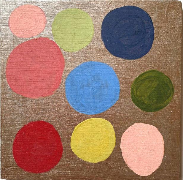 acrylic and enamel on wood