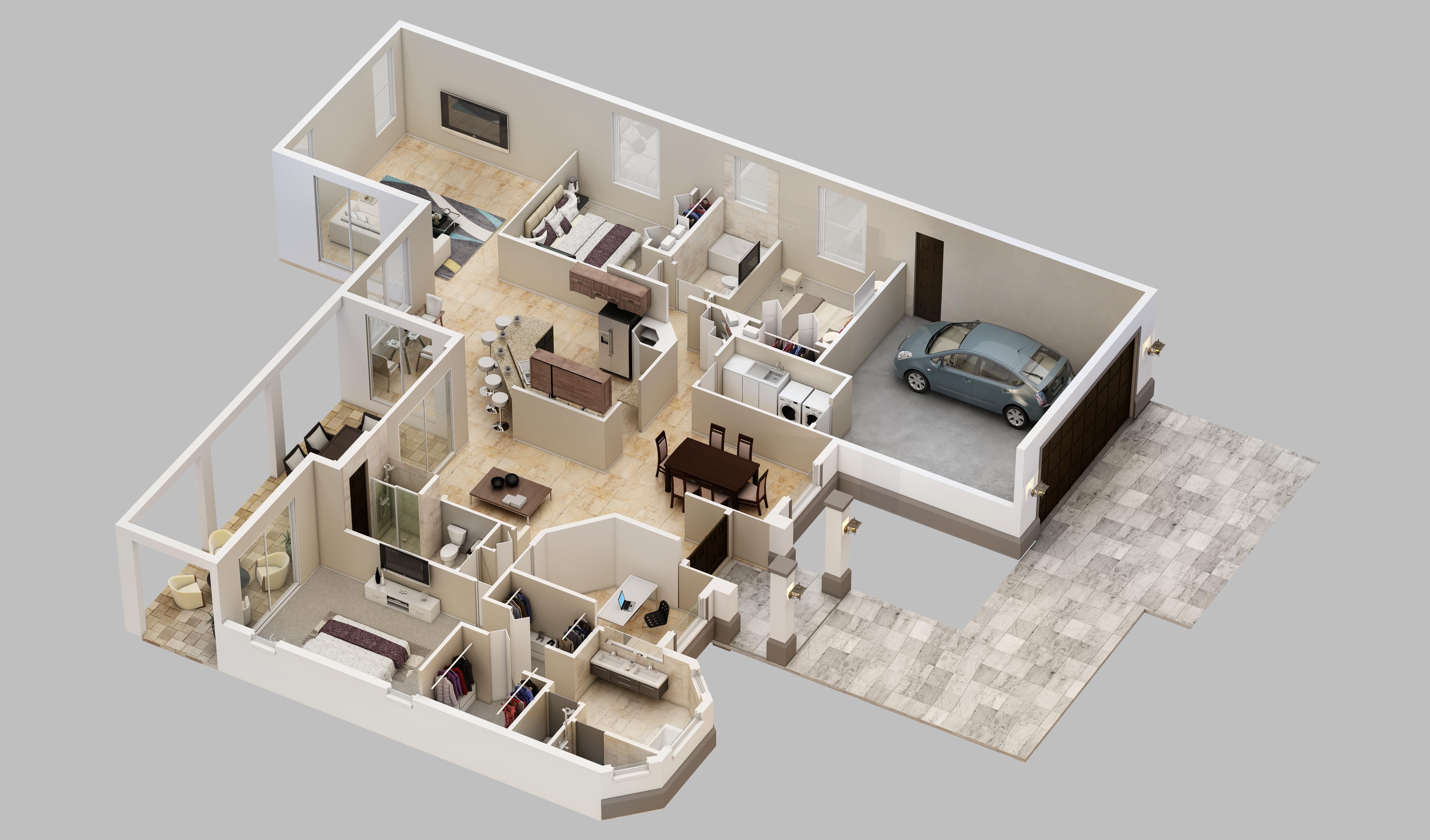 Carlton 3D Plan
