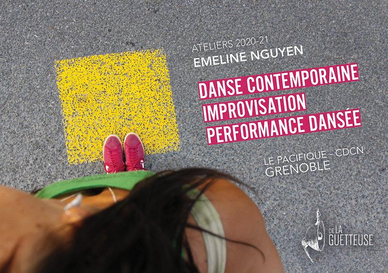 Flyer ateliers Cie La Guetteuse - 2020-2