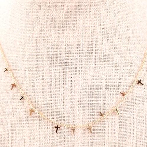 Collar Mini Cruces