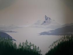 Washington, Mountain, mural, artist, nur