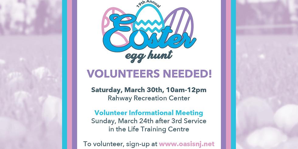 2019 Egg Hunt Volunteer Sign Up