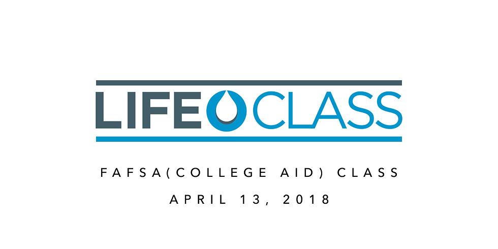 FAFSA (College Aid) Class