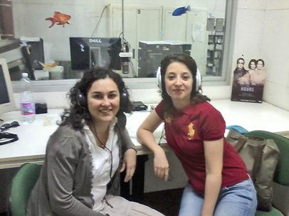 La dr.ssa Graziella Tornello durante un intervento radiofonico
