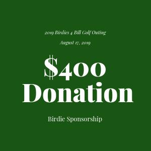 Donation to The Bill Rohn Foundation $400