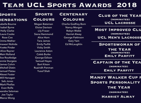 TeamUCLSports Awards 2018