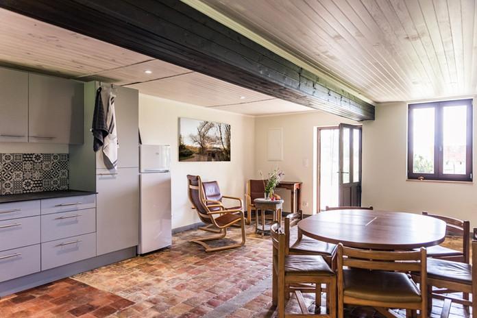 Ferienwohnung Küche und Wohnzimmer