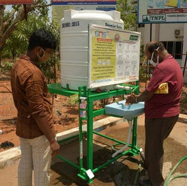 Introducing public contactless hand sanitation stations