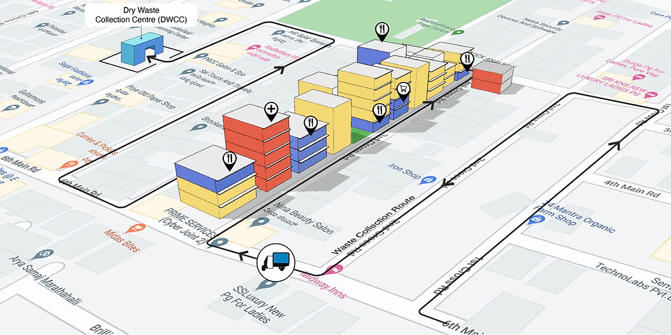 Using GIS to map the waste system in a ward