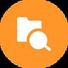 Glass search folder icon