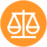 Balance justice scale icon