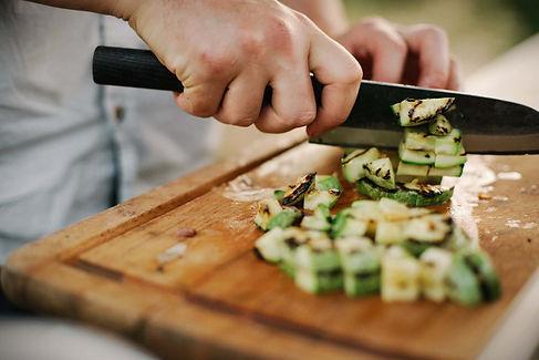 Coupe de légumes planche de bois