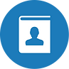 Account and contact management icon